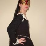 Black venetian gown