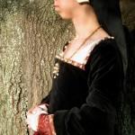 Black velvet Tudor Gown 3