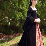 Black Velvet Tudor Gown 4