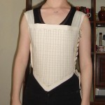 Bodice Front twill and buckram