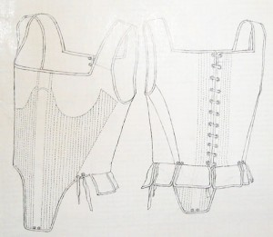 Dorothea bodies drawing by Janet Arnold