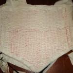 Pad stitched bodice inside
