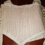 Pad stitched bodice front
