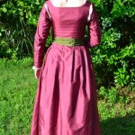 Pink Silk Kirtle Back