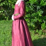 Pink Silk Kirtle Side