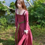Pink Silk Kirtle Front