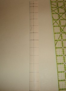 Step 4: Measure down 1 inch from the mark you just made and continue down.