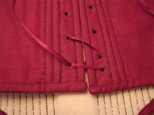 How to Tie Off Spiral Lacing - Centuries-Sewing