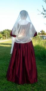 Wine Silk Kirtle Back