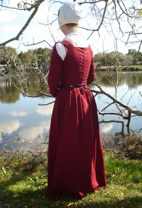 Red Wool Kirtle Back
