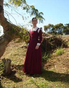 Red Wool Kirtle Front Shot