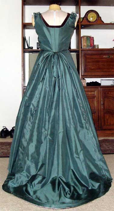 Green Tudor Skirt Attached Back Shot