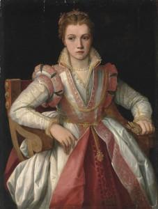 Follower of Francesco Salviati del Rossi Portrait of a Lady