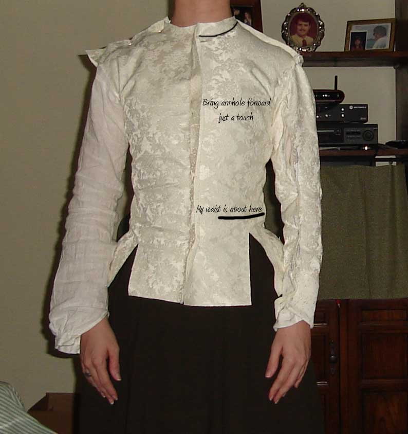 Margaret Layton's Jacket fitted down from the front