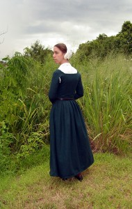 Teal Herringbone Wool Kirtle