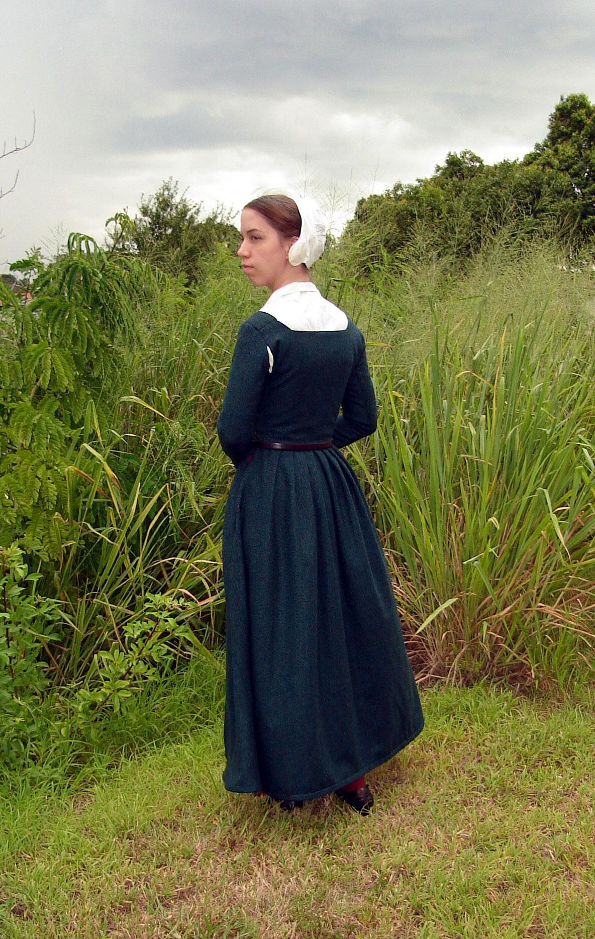 Teal Wool Kirtle - Centuries-Sewing
