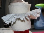 Starched Elizabethan ruff dampened before setting