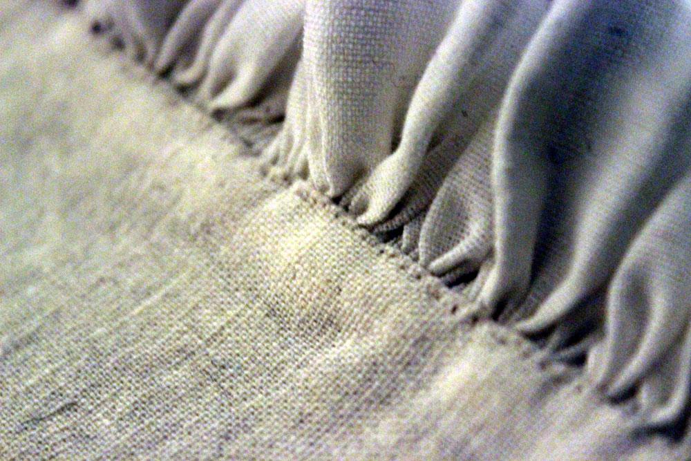 Hand sewn ruff close up