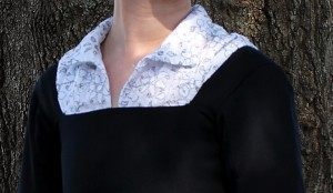 Faux Blackwork shirt Close up