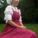 Pink Linen Kirtle Side Front