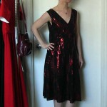 Red and black sequined 1920's inspired dress