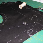 doublet front basted and shaped
