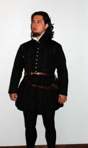 Black Linen Doublet and Trunkhose
