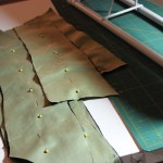 Bodice pieces ready to be flatlined to some cotton sateen