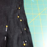 Close up of the pleats