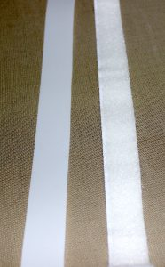 Velcro strips cut out