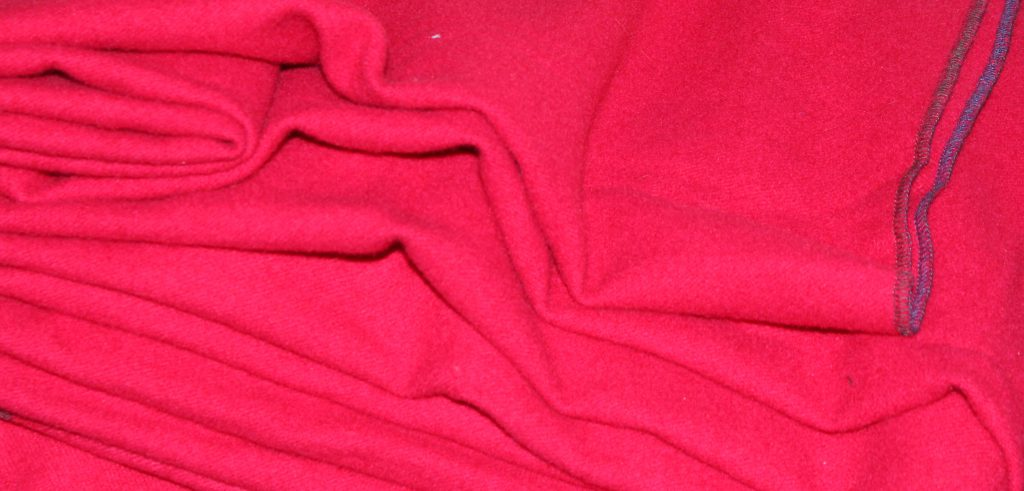 Red wool fabric for the petticoat bodies skirt