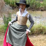 Caramel Wool Petticoat Bodies and Scarlet Wool Skirt