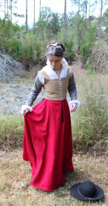 Hand Sewn Scarlet Kirtle