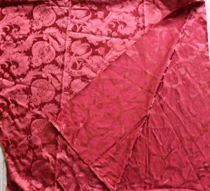 Red silk damask