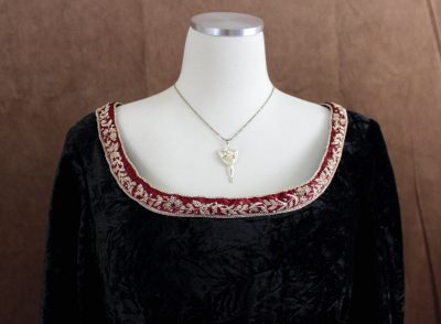 Velvet Elven Dress Neckline