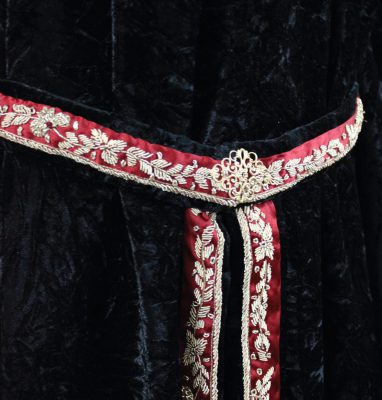 red and gold bullion and filigree belt