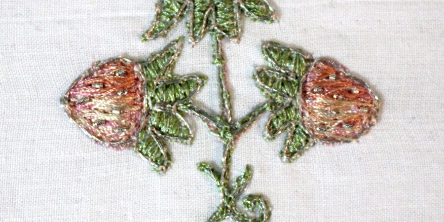 Strawberry motif from a 17th century stomacher