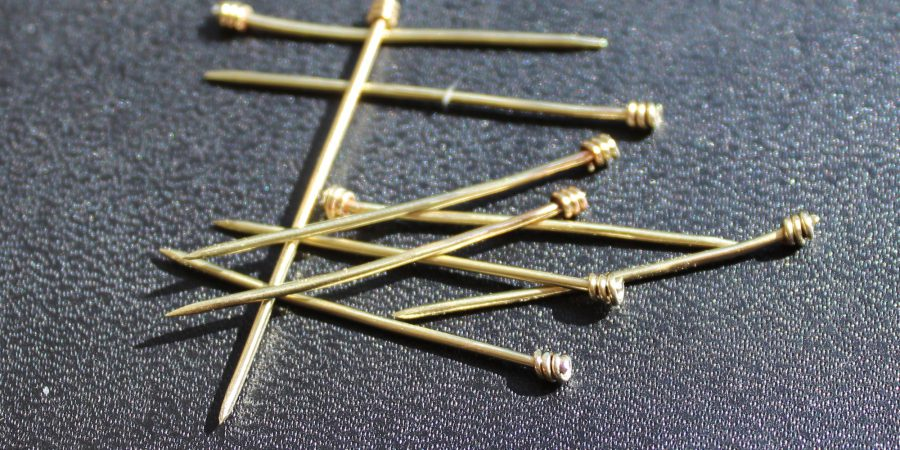 Brass pins after polishing