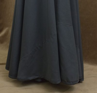 A 16th Century Kirtle in Olive Wool with Caramel Oversleeves