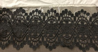 Repaired black lace with stabilizer