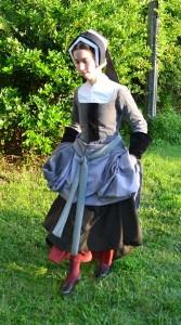Grey mockado gown