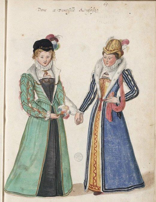 Lucas DeHeere sketchbook #71 English women