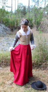 Hand Sewn Scarlet Kirtle
